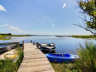 Photo for Beautiful, historic farmhouse with shared dock on Chilmark Pond
