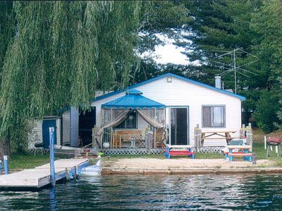 Photo for Lakefront 3 Bedroom Cottage On Chain Of Lakes Private Sandy Beach, Pet Friendly
