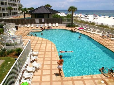 Photo for Beautiful 3 Bd/2 bath condo on the beach. Unit 205 Overlooking the pool and gulf