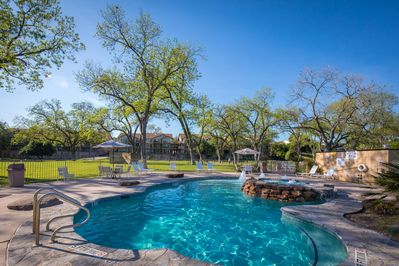 Second swimming pool area near the Guadalupe River