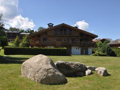 Photo for Superb apartment in a chalet in front of Mt Blanc