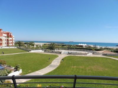 Photo for Nice T2 sea view swimming pool Rochelongue Cap d'Agde