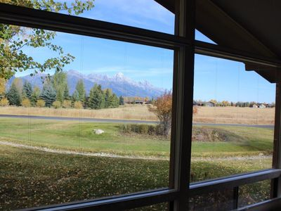 Photo for Mountain Majesty - Mountain Modern Townhome looking directly at the Grand Tetons