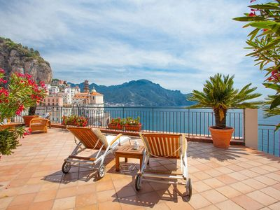Photo for Casa Atrani is an amazing apartment in Amalfi Coast, with private large terrace, wonderful sea view,