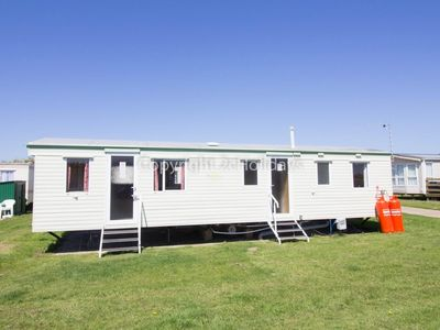 Photo for 9 berth dog friendly caravan for hire at  Broadland sands holiday park ref 20026