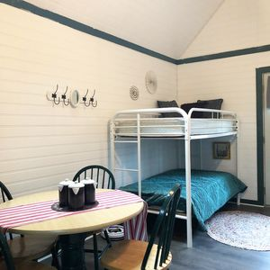 Welcome to the Tiny House! New flooring, walls, paint and decor.