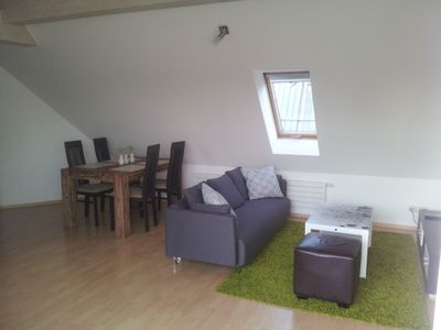 Photo for 3-room attic apartment centrally with roof terrace and parking