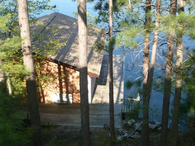 View of Boathouse from cottage front deck