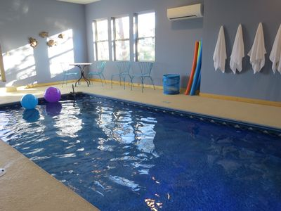 Photo for Brand New Luxury Cabin - Private Indoor Pool, Hot Tub, Theater, & Lovely Views!