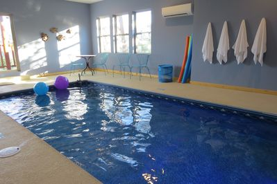 Private, heated indoor swimming pool - inside our cabin!  You'll love it!
