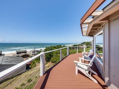 Photo for NEW LISTING! Updated, dog-friendly home w/ great decks & stunning ocean views!