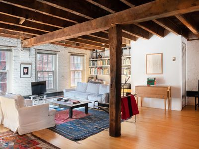 Photo for Lovely duplex loft on the coolest block in the South Street Seaport