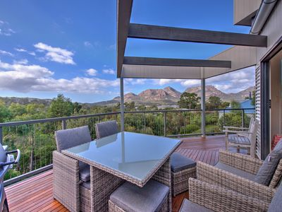 Photo for A stunning contemporary house with breath taking ocean and mountain views