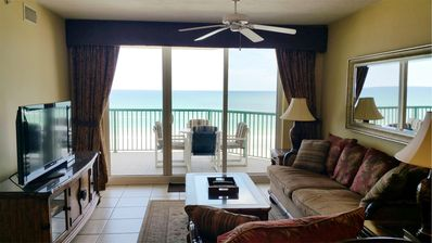 Photo for Relax in Luxury 2/2 Beachfront w/Big Jacuzzi Tub Lower Floor DTT #402