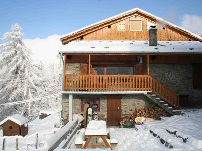 Photo for Stunning 350 year old mountain chalet with the best view in the alps