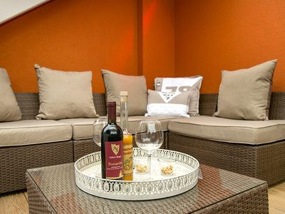 Photo for Perfect location!  Exclusive 5 * sauna apartment m. gr. heated south-facing terrace