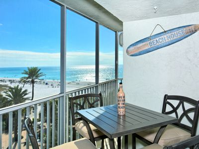 Photo for Beach front- Gulf View -Newly Renovated steps to #1 beach Ocean front  2 suites
