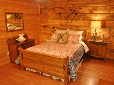 Photo for Mountain Laurel Cabin: Mountain Log Cabin With Hot Tub