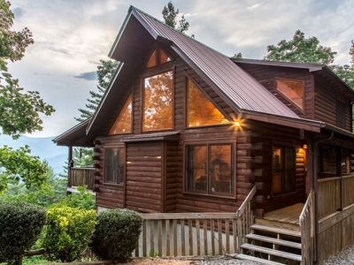 Photo for Luxurious Mountain Top Log Home with Stunning Views, Wifi and Much More