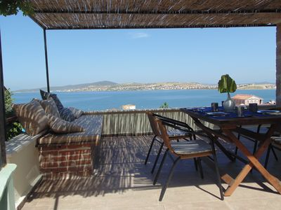 Photo for Stone Cottage 130 qm with sea view and palmgarden