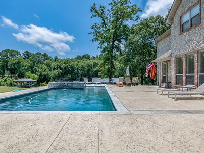 Photo for Luxurious Family Retreat On Lake Palestine w/ Pool, Hot Tub, & New Boat House