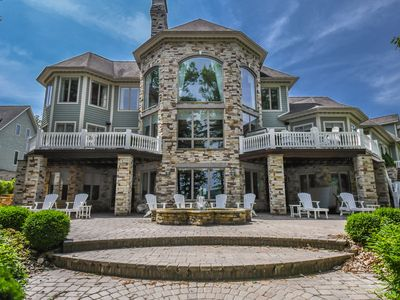 Photo for Luxury, lake front home with 5 master suites!