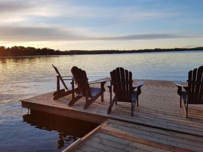 Photo for New Listing ! Waterfront cottage with private beach on Chesley Lake!