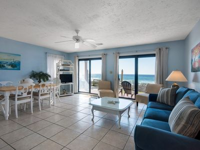 Photo for Gorgeous, Open Ground Floor Condo! Gulf Front w/ Large Patio. Beach Access!
