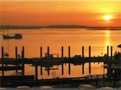 Fantastic sunsets over the Amelia River--just a short drive from our condo!