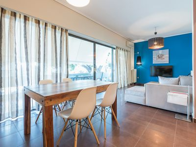 Photo for Glass-Walled Designed Apt in Glyfada Center