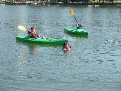 Photo for Kayaks, paddle boat, row boat, canoe - Free to use! Family and pet friendly!