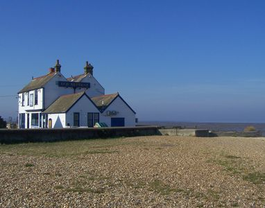 The Old Neptune pub on the beach - a 5 minute walk away.
