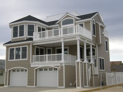 Photo for Beautiful New 5 Bedroom Home 3 Houses From Beach In Prime Lbi Location