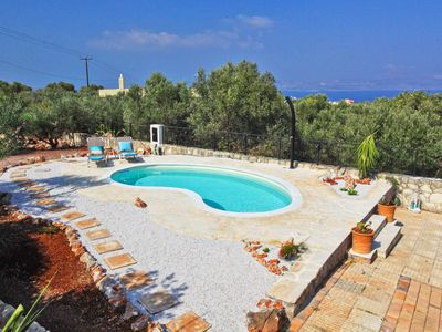 Photo for Villa Olive Garden in Western Crete, with private pool, sleeps 11 & sea views