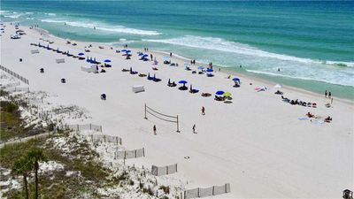 Photo for 3 BR / 2 BA  beach front condo,  family friendly, pool, Sleeps 8