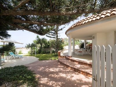 Photo for Seafront Villa with huge terrace at 500 meters from 2 sandy beaches