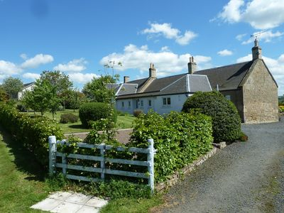 Babingtons Cottage with stunning views towards the Cheviot & Lammermuir Hills