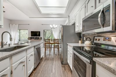 Fully equipped kitchen for cooking and entertaining