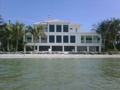 Photo for Magnificent Beachfront Home, Private Beach, Panoramic Views. Large pool  hot tub