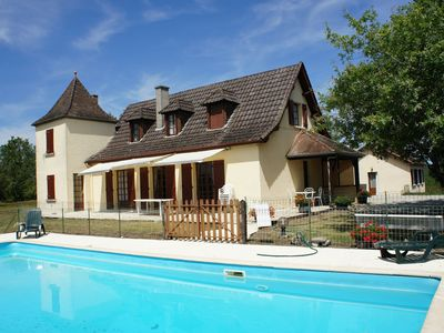Photo for Kids Friendly House near Sarlat with big pool wifi and superb view