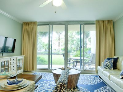 Photo for Waterscape B228 ~ Ground Floor ~ Designer Remodel ~ Walk Right Out to the Pool!!