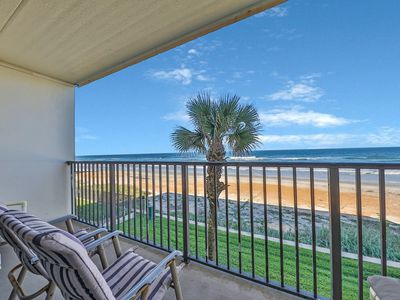 Photo for NEW LISTING! Beachfront townhouse right on the ocean w/ balcony & shared pool!