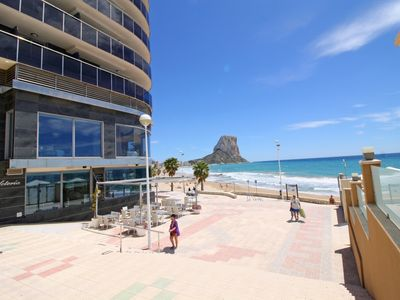 Photo for Modern apartment with A/C and terrace in the center of Calpe beach