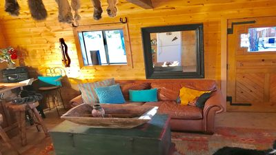 Photo for Stunning Mtn. views, cozy cabin, 6 mi. From slopes, Internet, grill