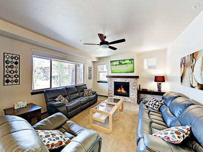 Photo for New Listing! Modern Condo w/ Pool & Fireplace - 5 Minutes to Ski Resort