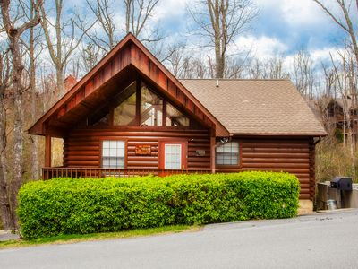 Photo for Cabin Located Within The Heart Of The Smokies*Grill*AC*Free WiFi*Hot Tub*Pool.