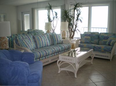 Living Room with amazing views of the Gulf