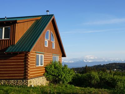 Photo for Custom Log Cabin with Amazing Views - great for couples and families!