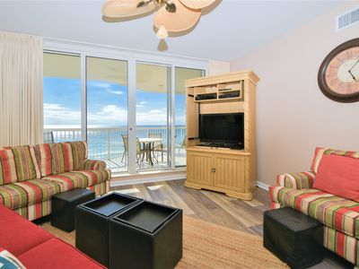 Photo for Beach-Front Condo with Stunning Beach Views! FREE Beach Service! TWO KING BEDS!�