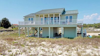 """Photo for Ready Now- No Storm Issues! FREE BEACH GEAR! Beachfront, East End, Pets OK, Wi-Fi, 3BR/2BA """"Driftwood"""""""